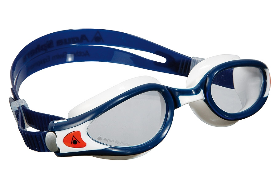 Очки для плавания KAIMAN EXO (прозр.линзы), WHITE BLACK