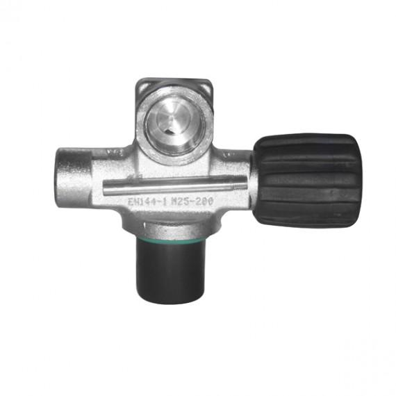 Вентиль M25x2 230bar правый 1 выход DIN O2 очищенный, модульный, без заглушки BTS