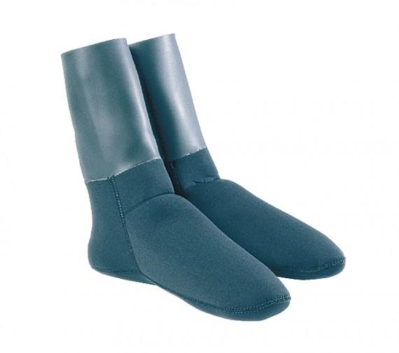 Неопреновые носки черные 3mm, с обтюратором